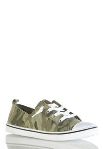 Camo Toe Cap Sneakers