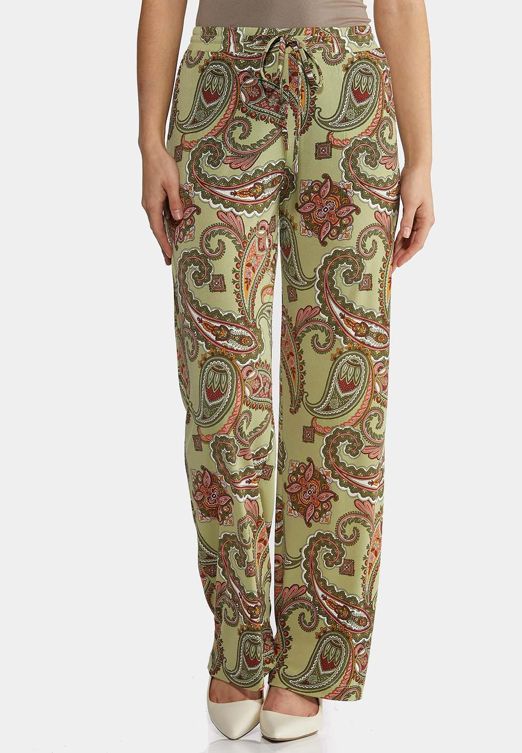 Paisley Tie Waist Pants