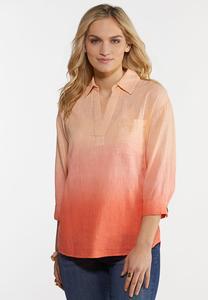 Coral Dip Dye Shirt