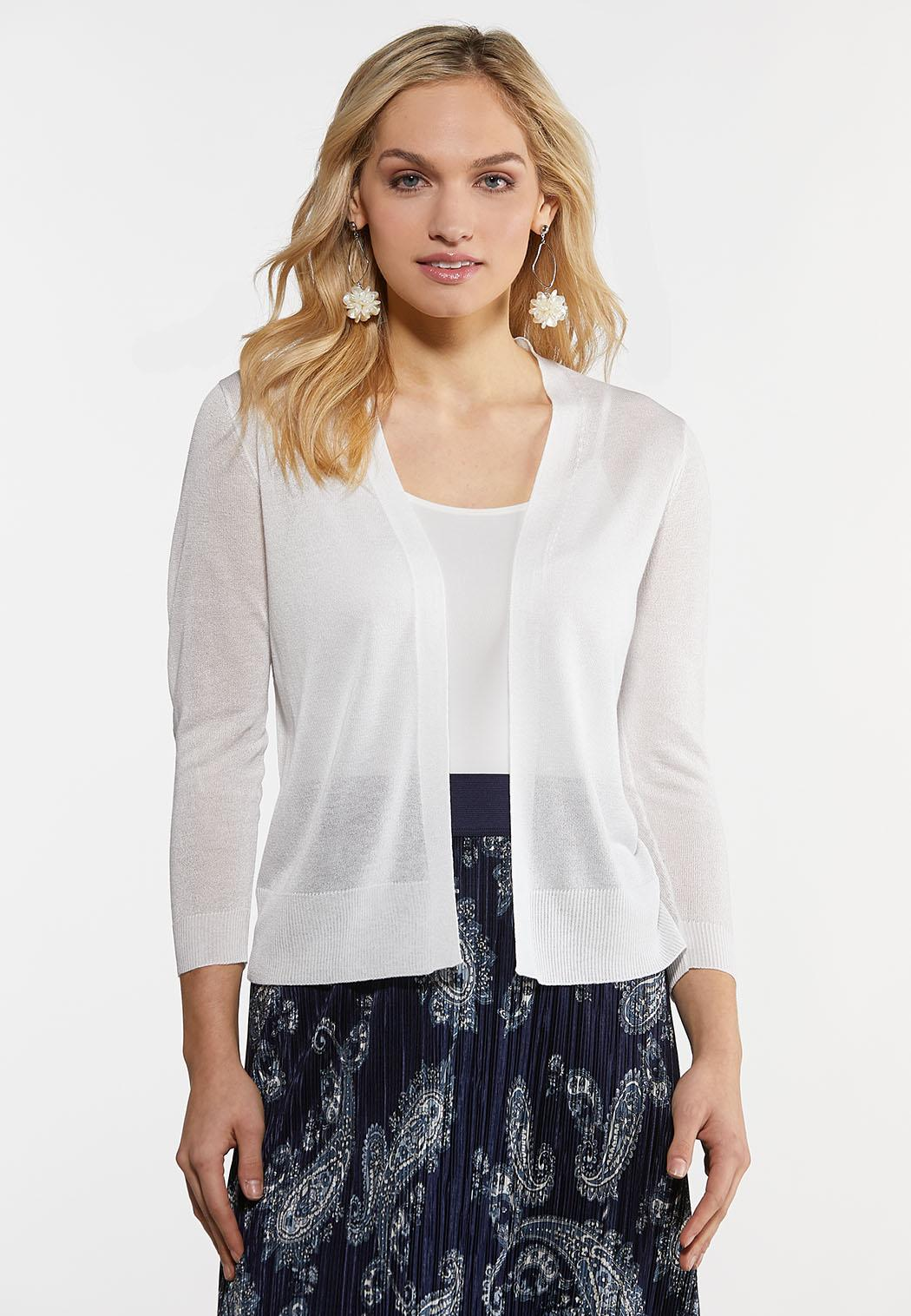 Plus Size Sheer Cardigan