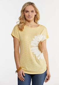 Plus Size Yellow Daisy Tee