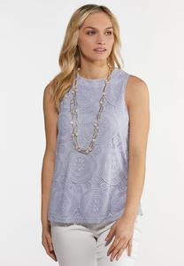 Lavender Lace High-Low Tank