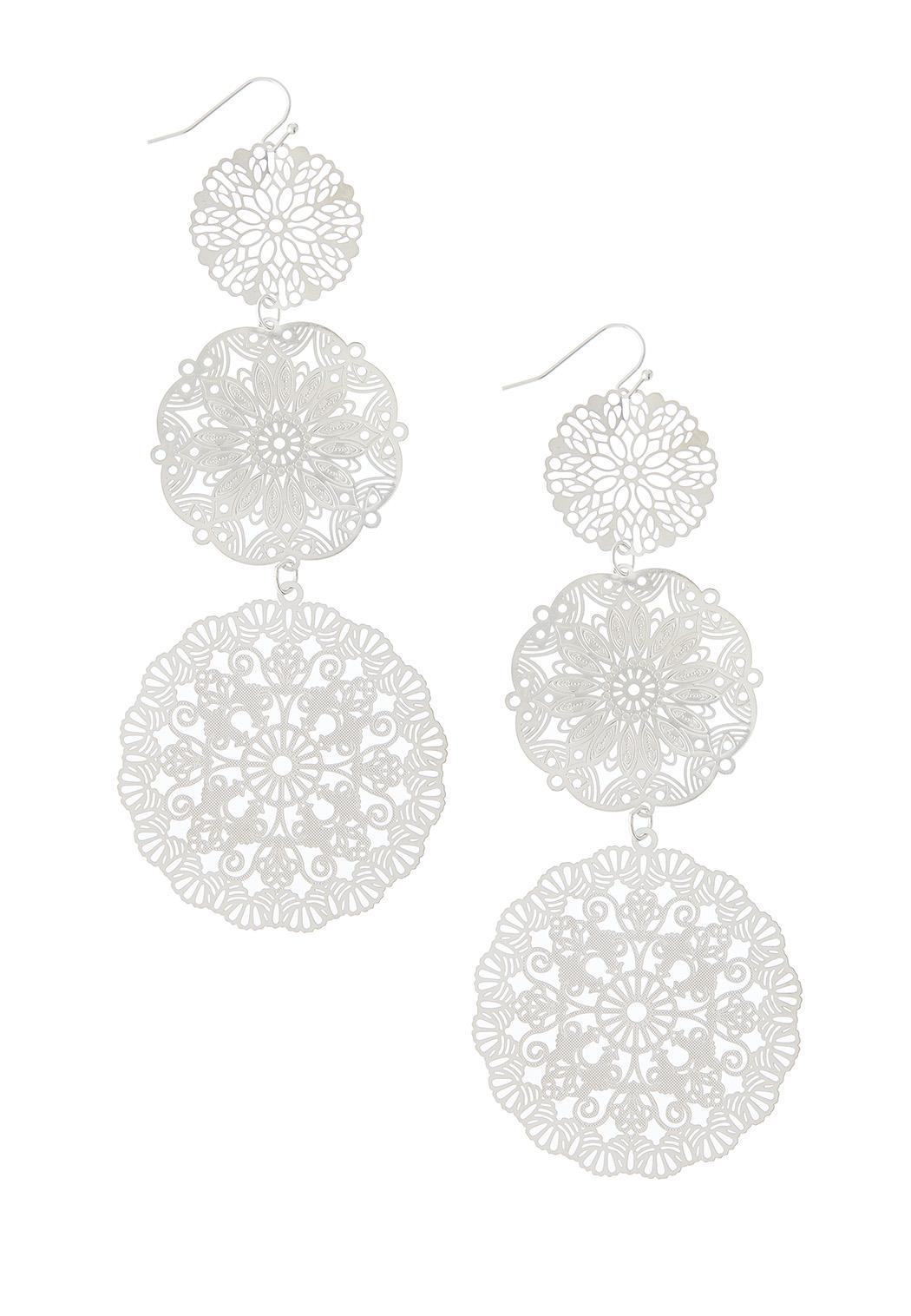Filigree Disc Dangle Earrings