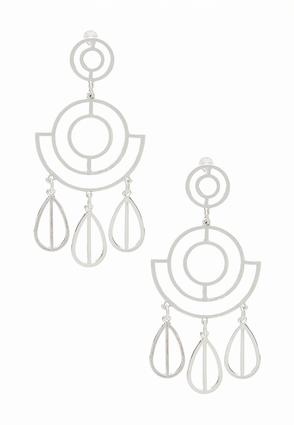 Cutout Geo Chandelier Earrings