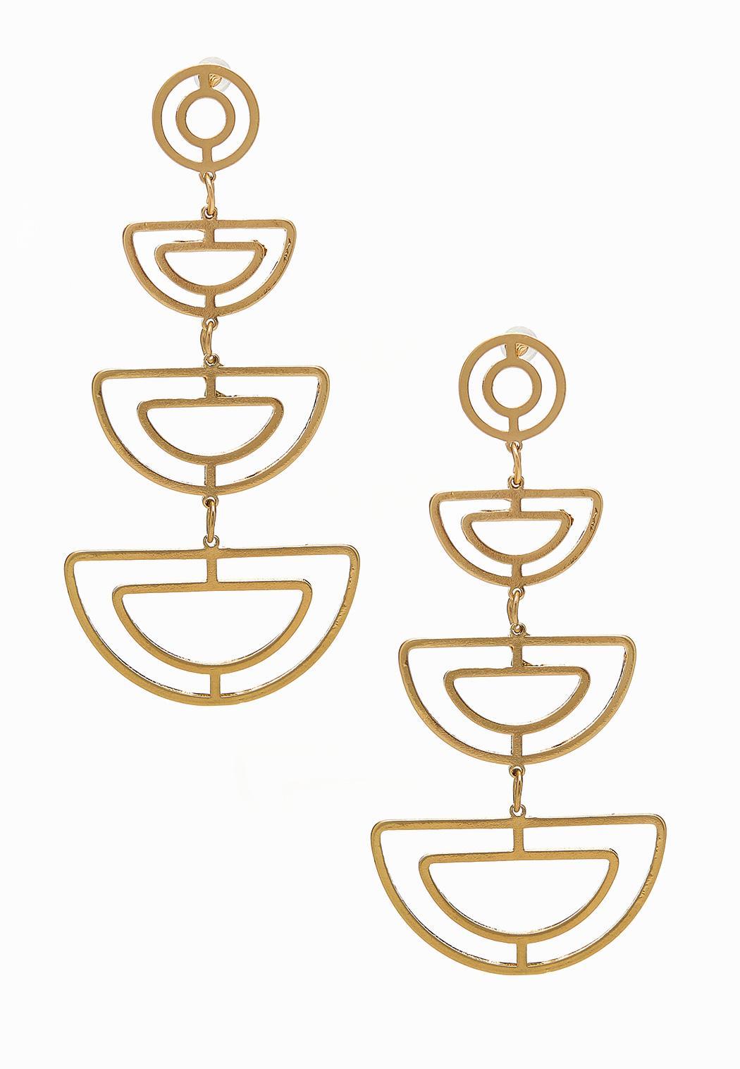 Cutout Geo Dangle Earrings