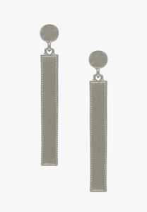 Brushed Metal Bar Earrings