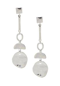 Linear Silver Statement Earrings