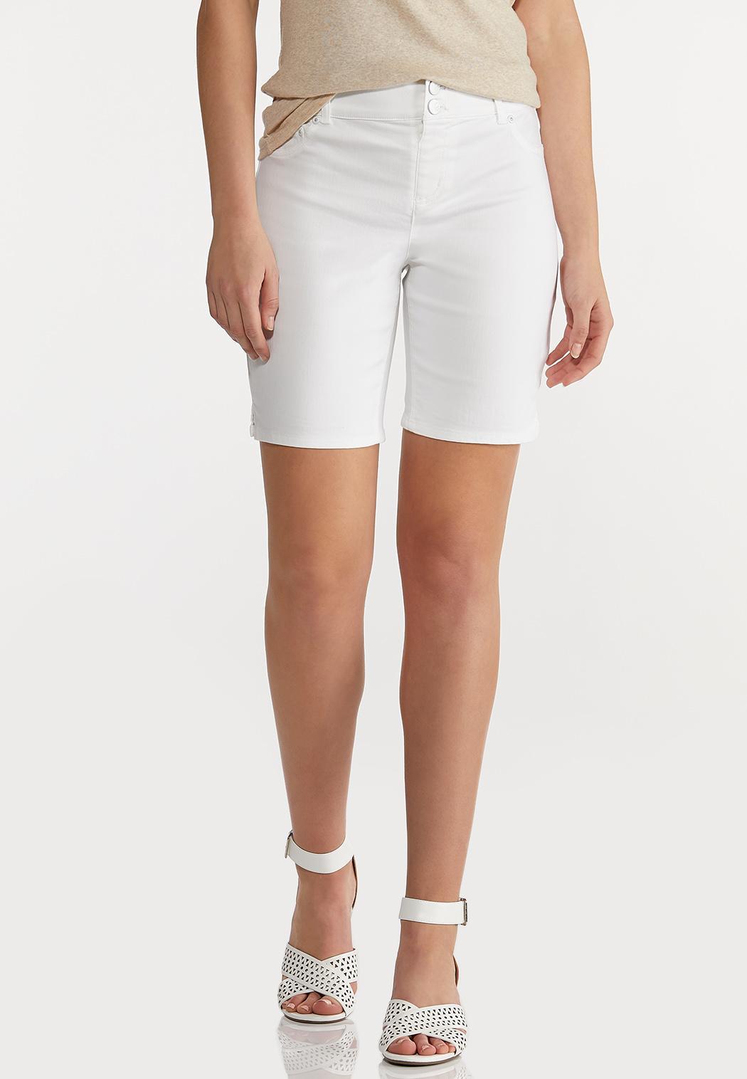 White Classic Denim Shorts