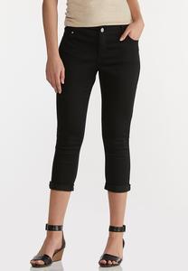 Cropped Skinny Black Jeans