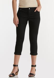 Cropped Skinny Black Jeans