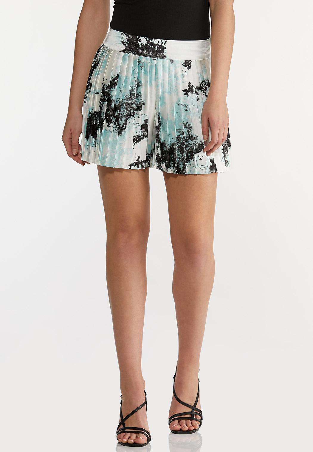 Pleated Tie Dye Shorts