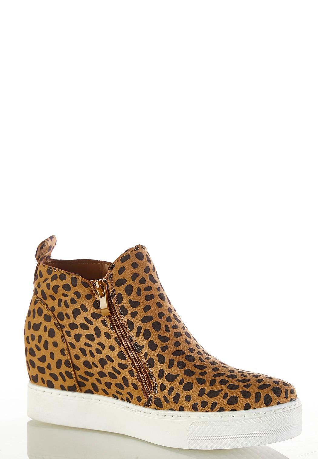 Cheetah Wedge Sneakers