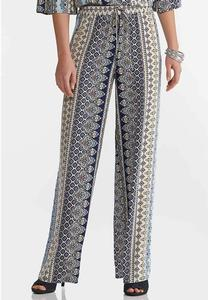 Boho Blue Wide Leg Pants