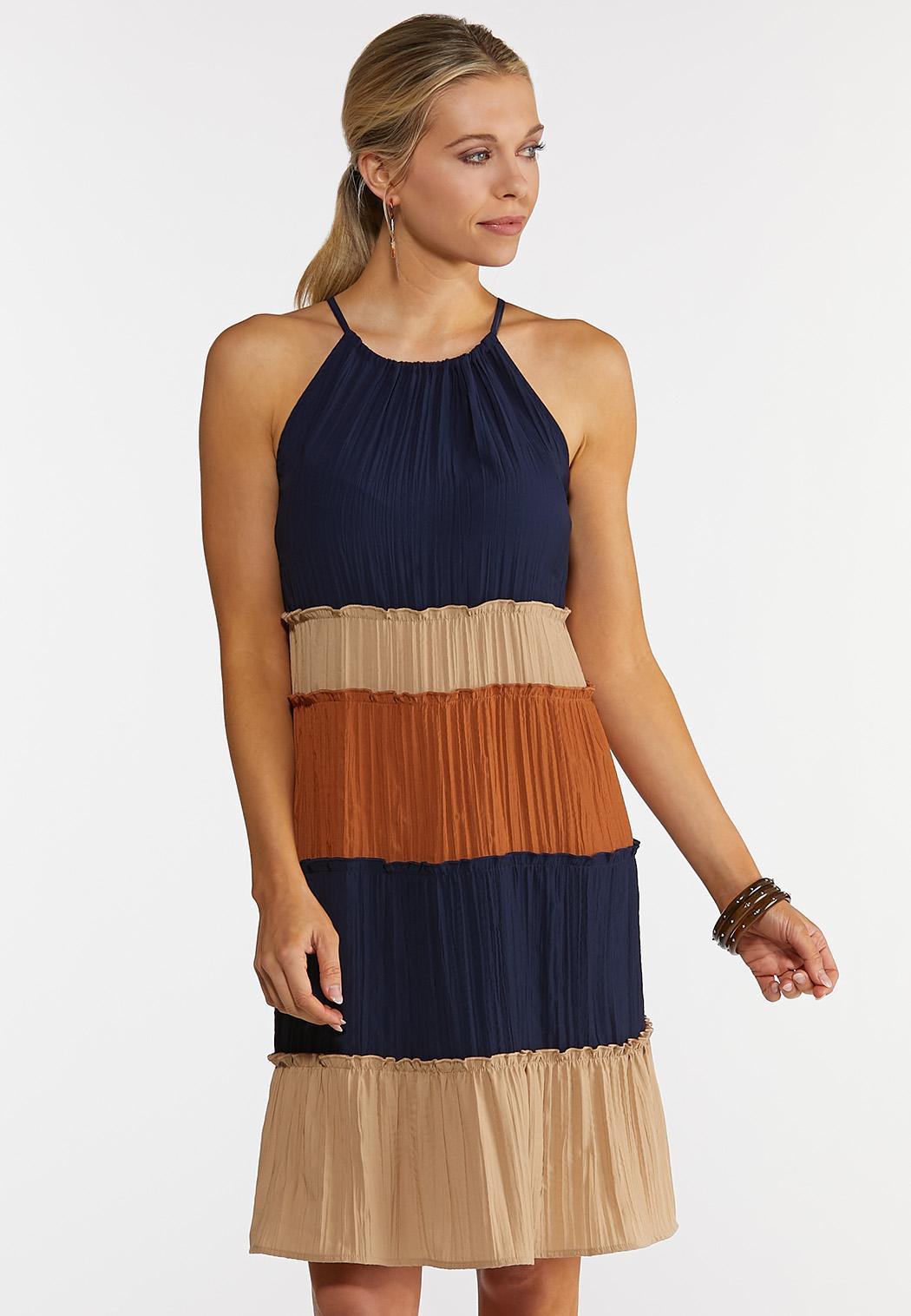 Colorblock Swing Dress