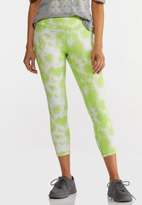 Lime Tie Dye Leggings