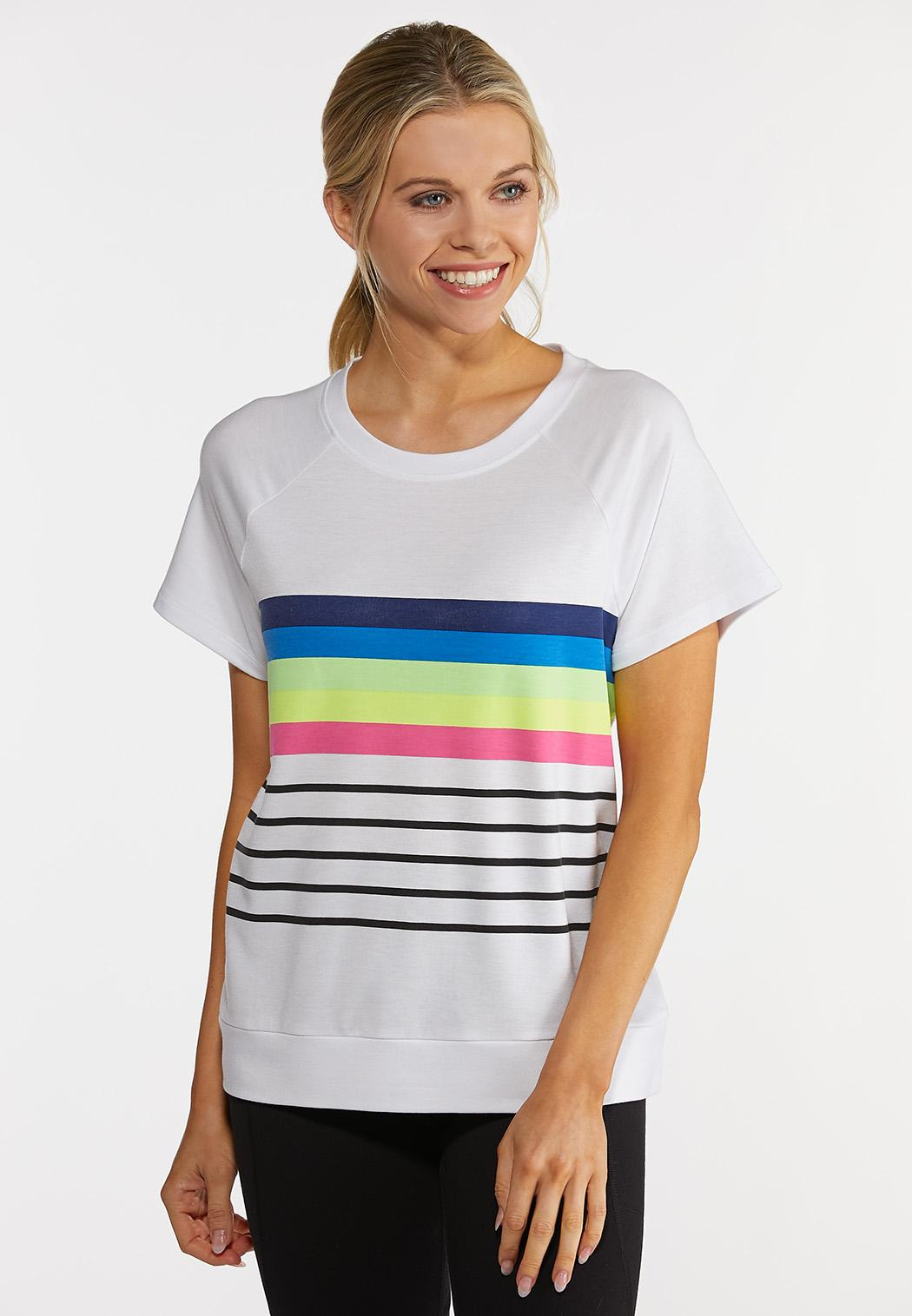 Stripe Active Top