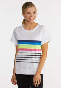Plus Size Stripe Active Top