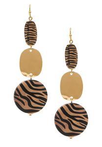 Golden Zebra Earrings
