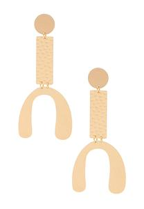 Geo Hammered Gold Earrings