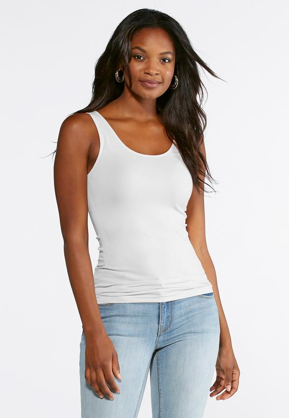 Plus Size Seamless Solid Tank