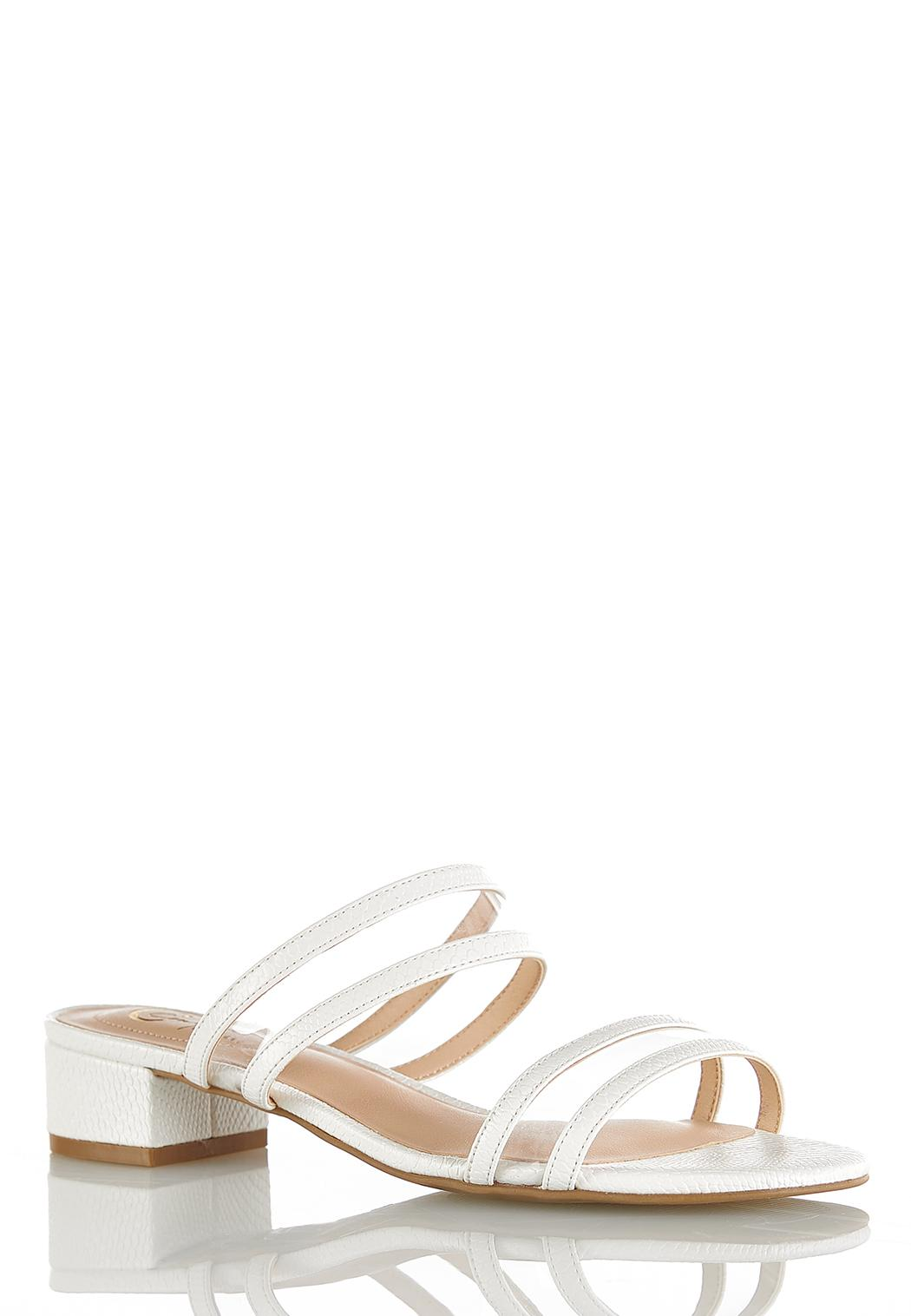 Lucite Strap Sandals