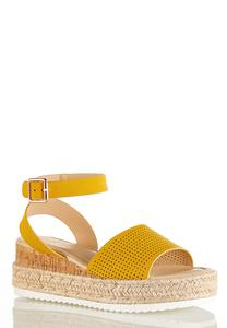 Roped Cork Flatform Wedge Sandals