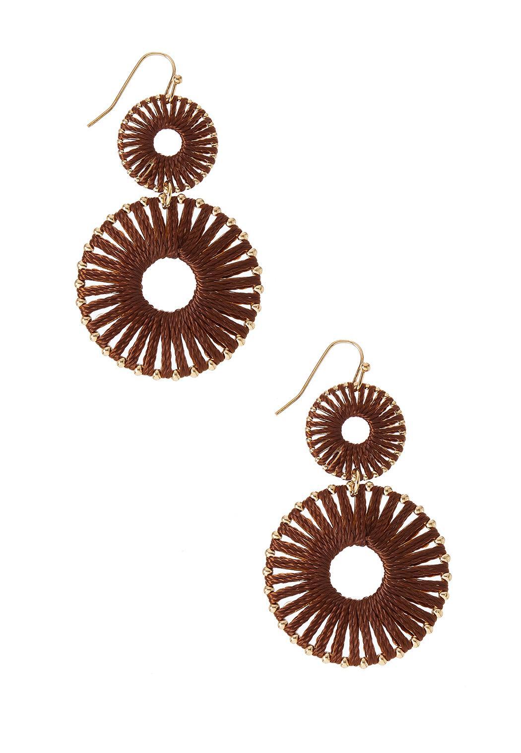 Woven Sunburst Earrings