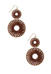 Woven Sunburst Earrings