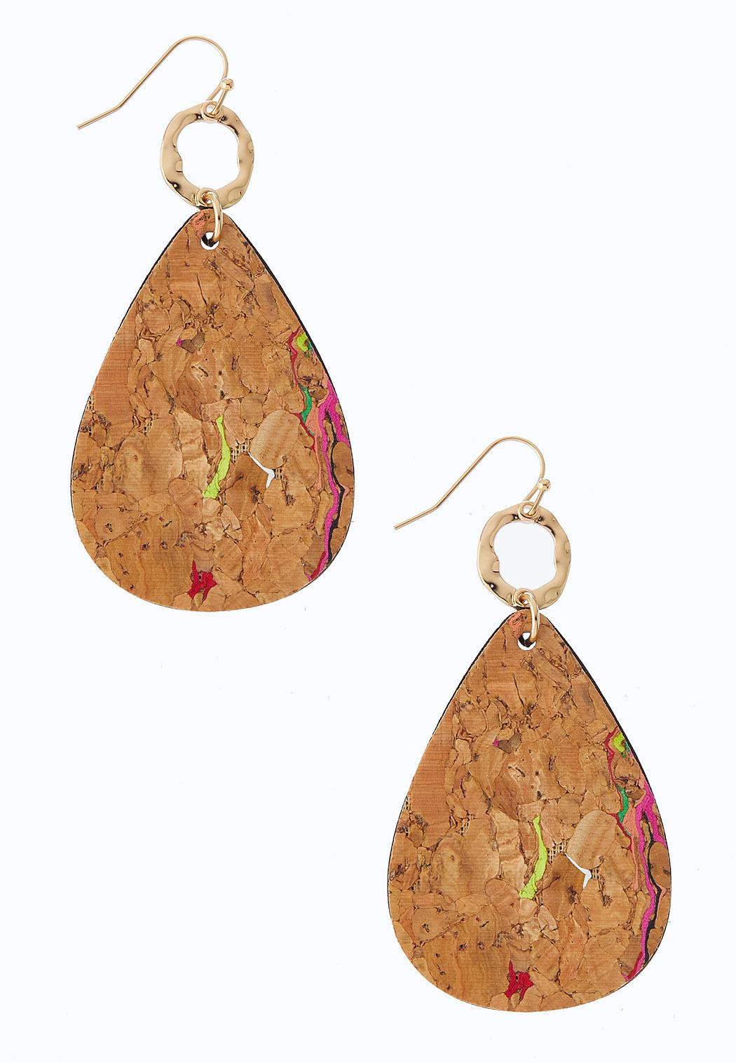 Splatter Cork Earrings