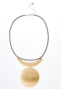 Circle Under The Moon Necklace
