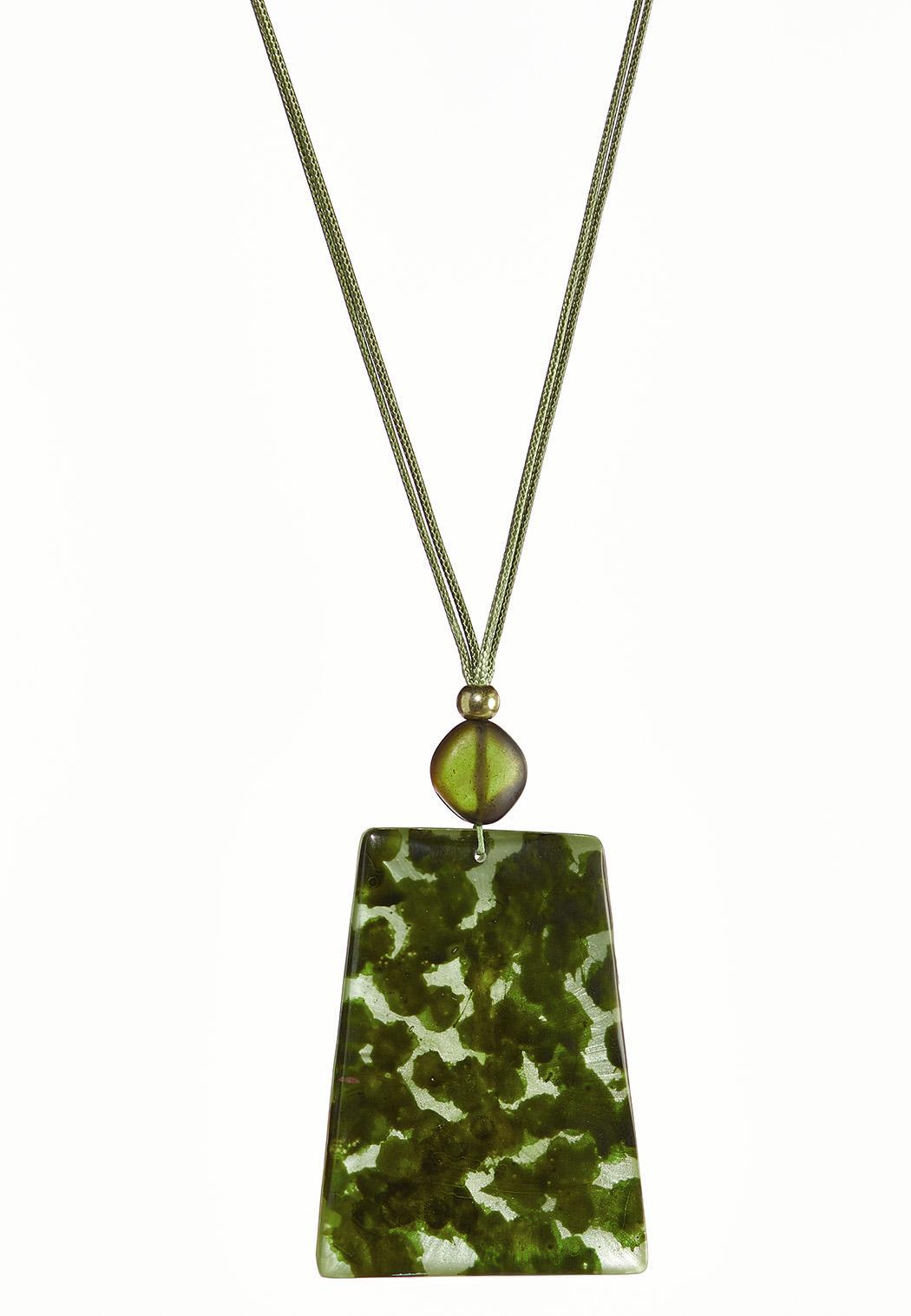 Olive Tort Pendant Necklace