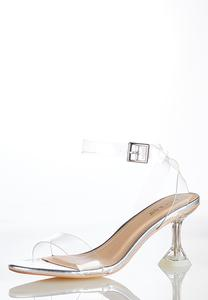 Lucite Ankle Strap Sandals