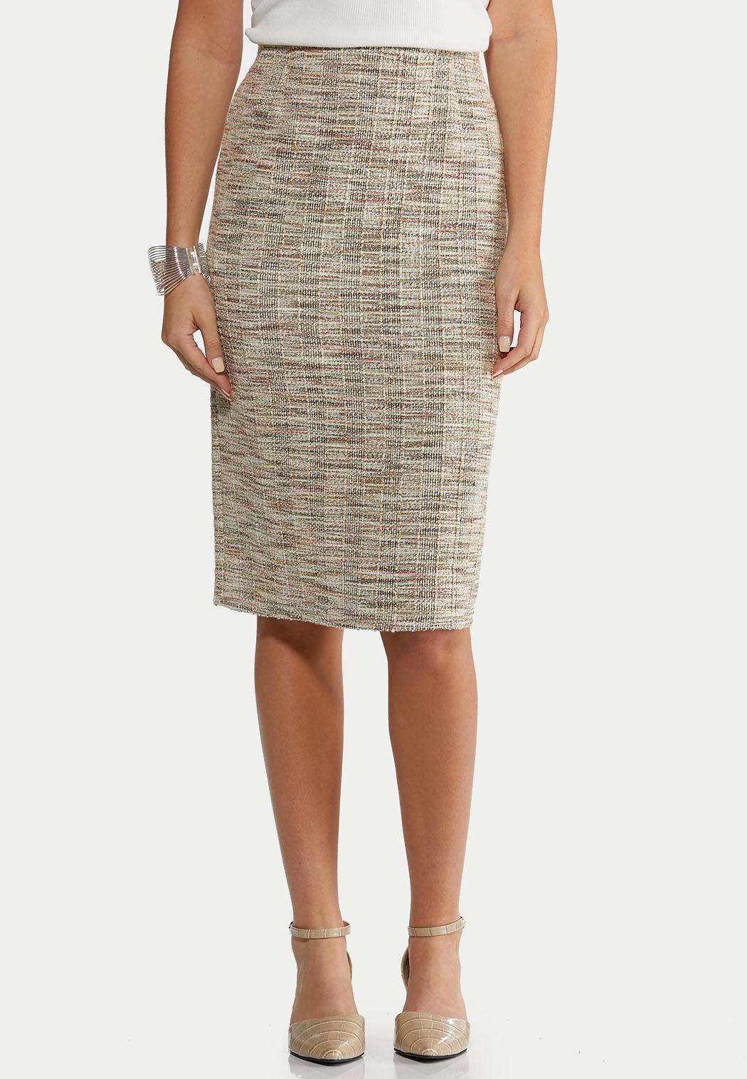 Boucle Pencil Skirt