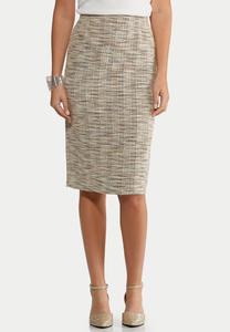 Plus Size Boucle Pencil Skirt