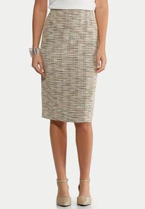 Plus Size Boucle Pencil Skirt