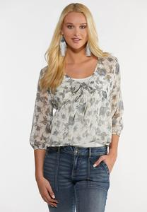 Plus Size Sheer High-Low Poet Top