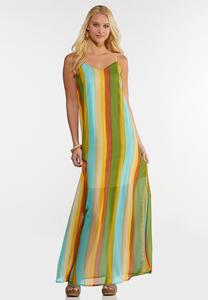 Citrus Stripe Maxi Dress