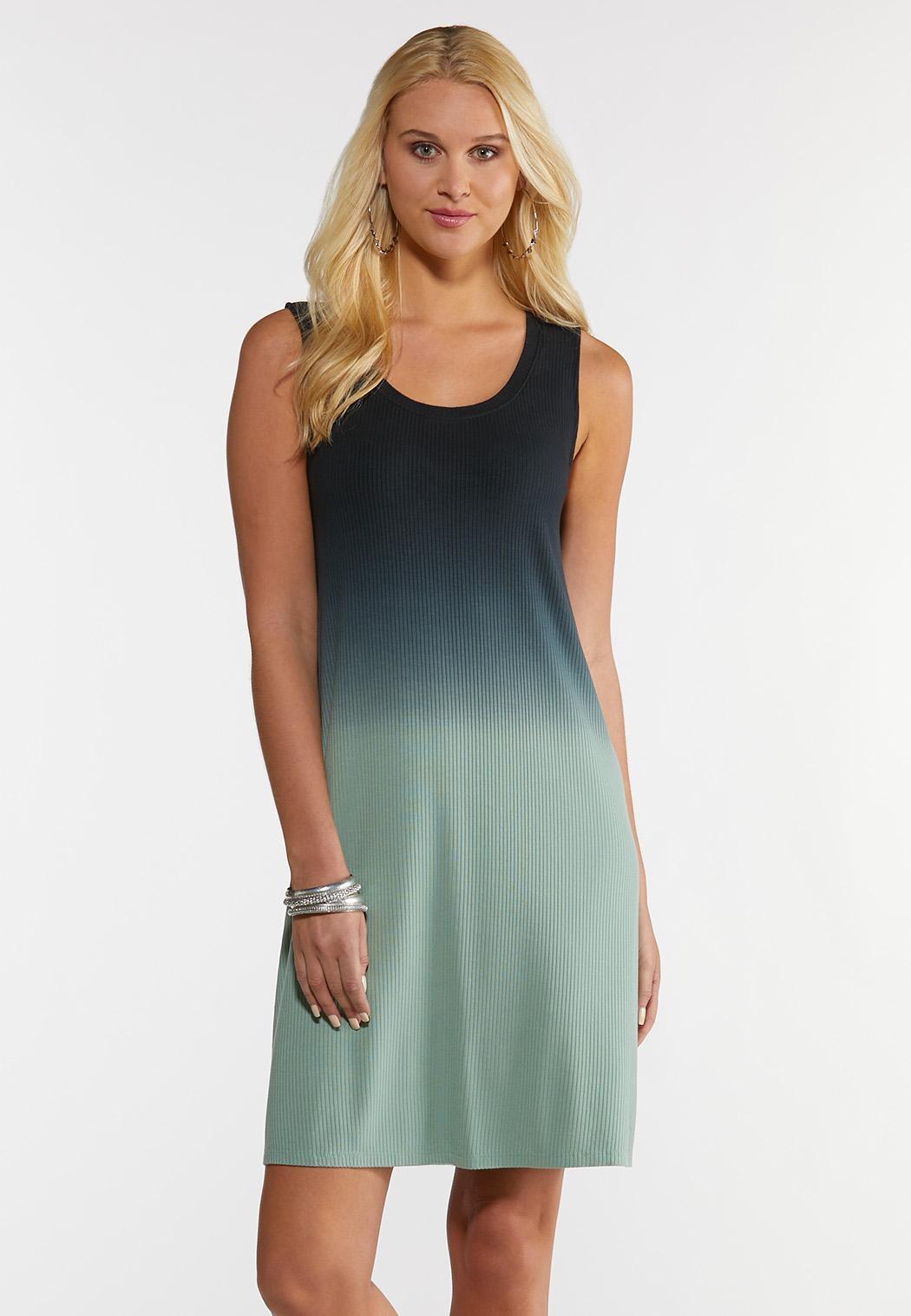 Plus Size Tie Dye Shirt Dress