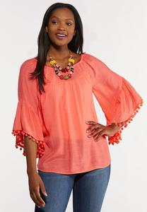 Pom Pom Embellished Top