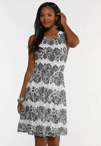 Dot And Lace Dress