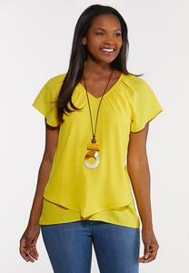 Layered V-Neck Top