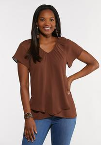 Plus Size Layered V-Neck Top
