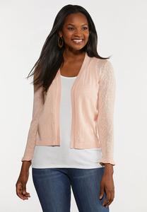Plus Size Blush Jacquard Shrug