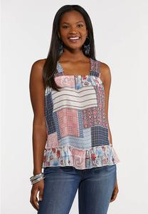 Patchwork Woven Tank