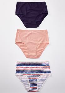 High Waist Navy Panty Set