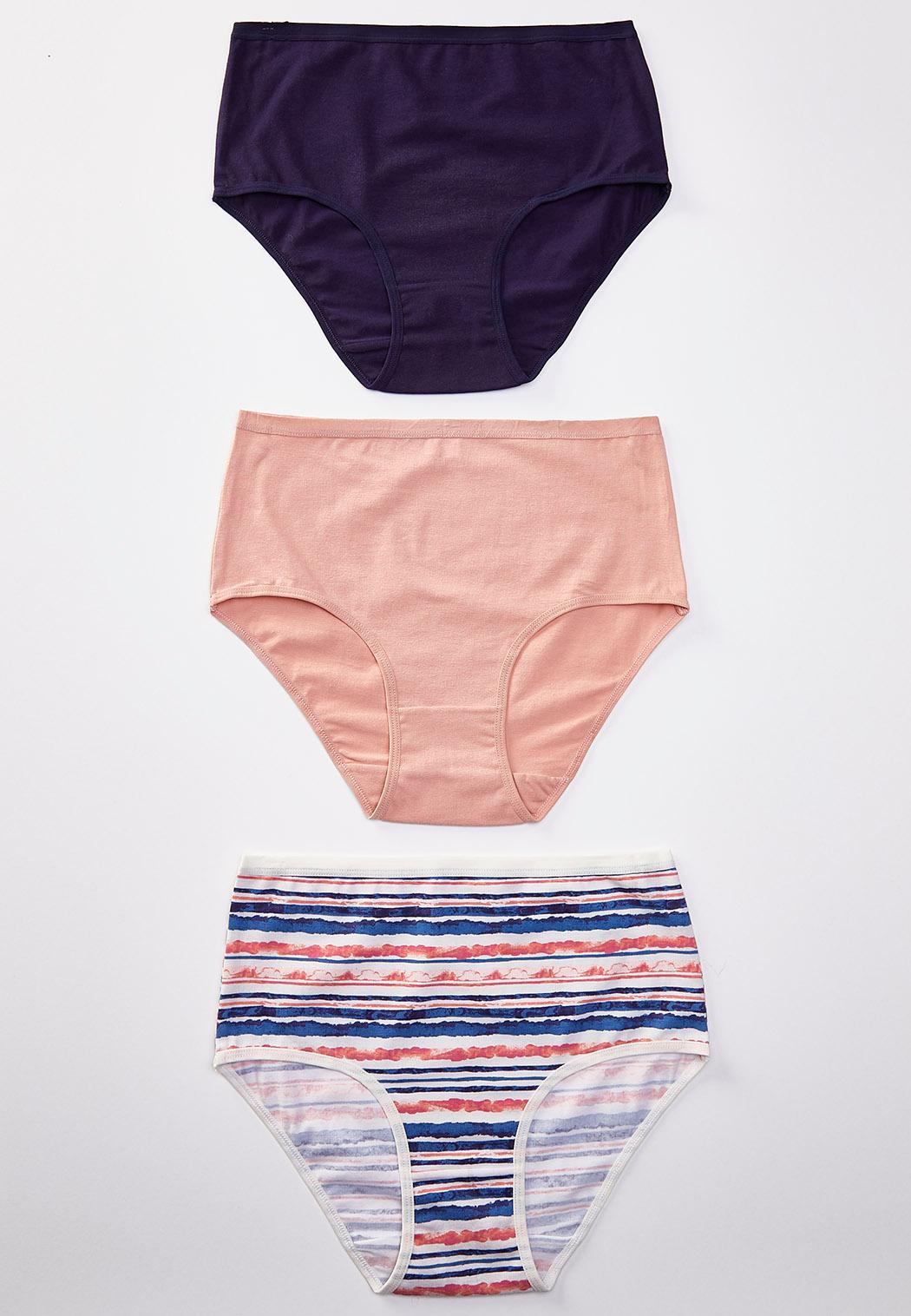 Plus Size High Waist Navy Panty Set