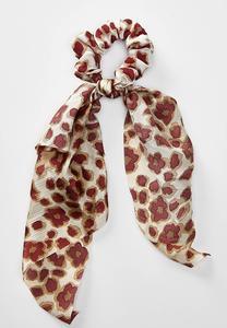 Leopard Scarf Ponytail Holder