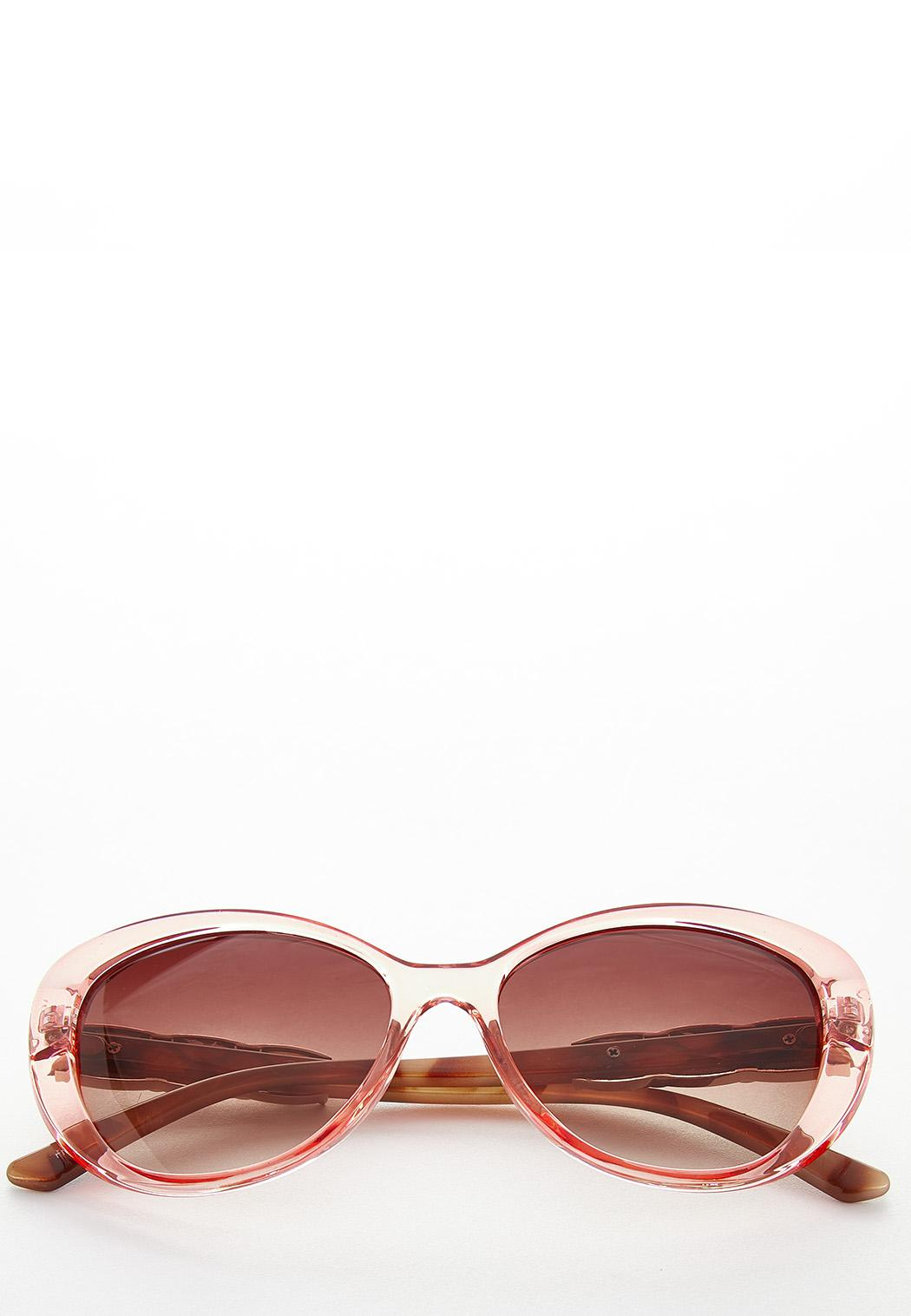 Pink Lucite Oval Sunglasses