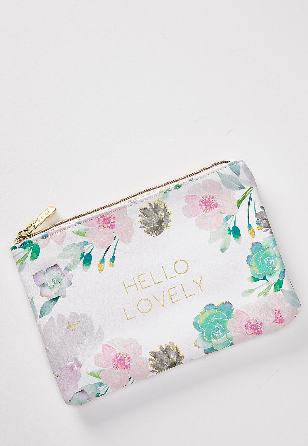 Hello Lovely Floral Pouch