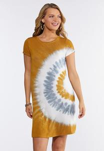 Plus Size Sunny Tie Dye Swing Dress